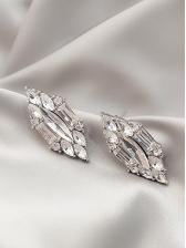 Chic Rhombic Transparent Stud Earrings