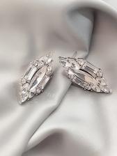 Chic Rhombic Crystal Stud Earrings