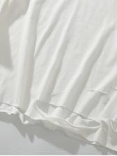 Back Geometric Printing Loose Hole Long Sleeve Shirts