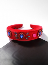 Rhinestone Decor Velvet Hair Band