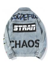 Hip Hop Graffiti Denim Jacket