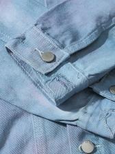 Tie Dye Blue Mens Winter Jackets