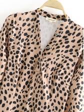 Trendy Leopard Printed Long Sleeve Bodycon Dress