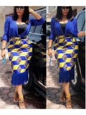 Geometric Print Tassel Skirts For Women
