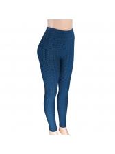 Jacquard Weave Skinny Yoga Leggings