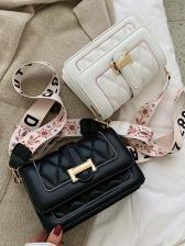 Wide Belt Rhombus Ladies Shoulder Bag
