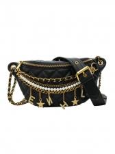 Star Tassel Decor Chain Waist Bag For Women