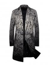 Winter Button Up Woolen Yarn Men Long Coat