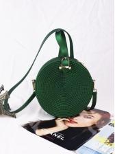 Fashion Solid Round Mini Crossbody Shoulder Bag