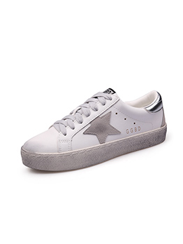 Contrast Color Star Sneakers For Women