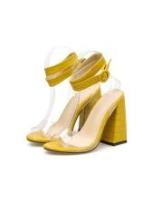 Patchwork Transparent Belt Womens Sandals