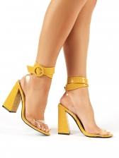 Patchwork Transparent Belt Womens Sandals