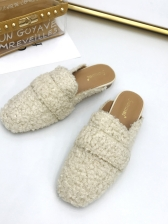 Fur Solid Women Mules Shoes