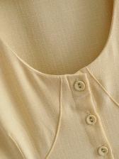 Deep V Neck Large Hem Long Sleeve Midi Dress