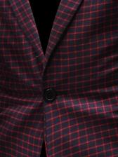 Fashion Plaid Men Blazer Coat