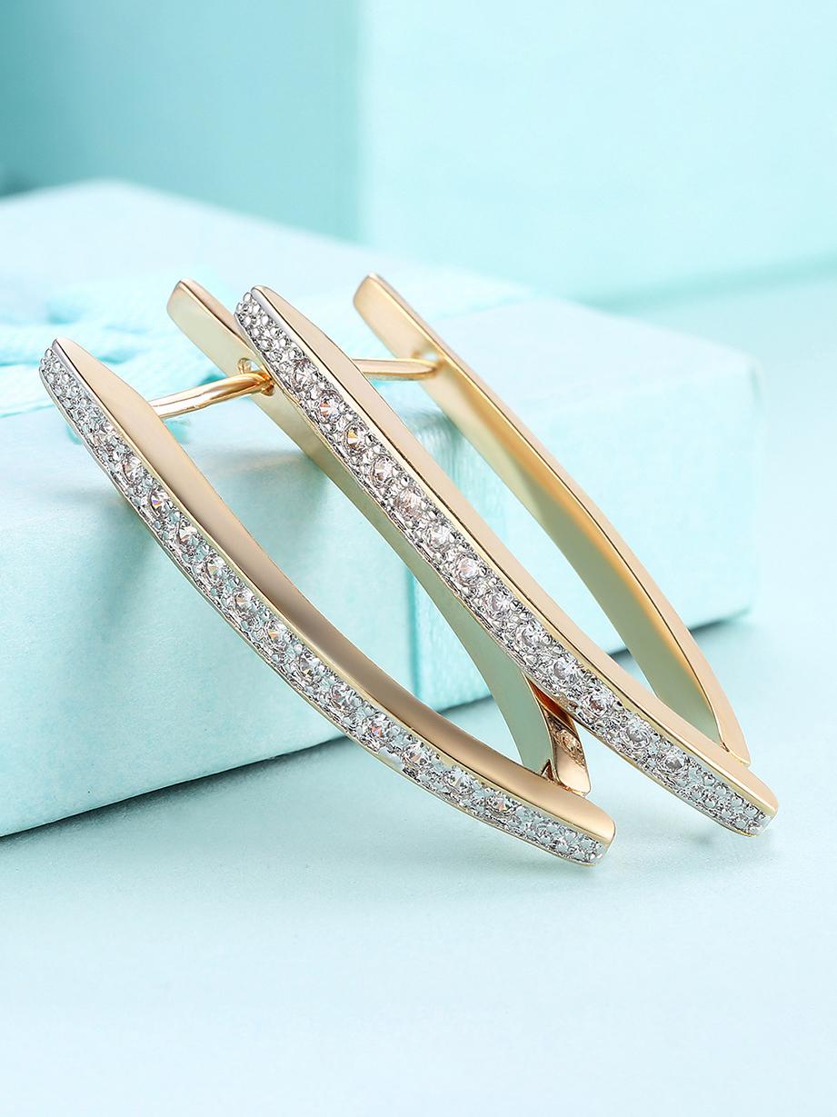 Chic Zircon Decor Earrings For Women