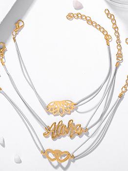 Easy Matching Heart Letter 3 Piece Bracelet