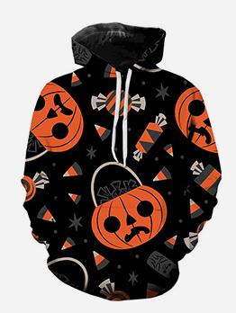 Halloween 3D PumpkinLong Sleeve Cool Hoodies