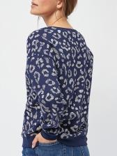 Casual Round Collar Printed Sweatshirts For Women