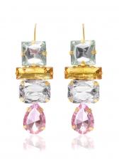 Fashion Crystal Water Drop Shape Drop Earrings