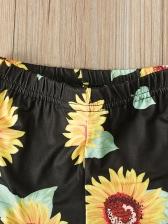 Off Shoulder Top Flower Flare Clothing Sets