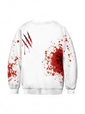 Halloween Loose Letter Long Sleeve Sweatshirt