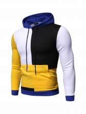 Stylish Contrast Color Hoodies For Men