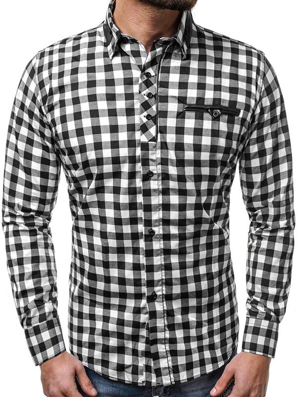 Autumn Long Sleeve Button Down Plaid Shirt