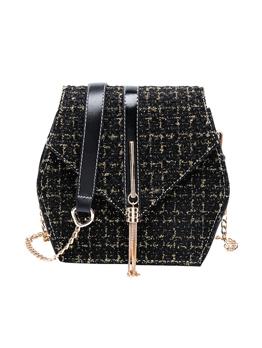 Tassel Square Shape Chain Shoulder Bag
