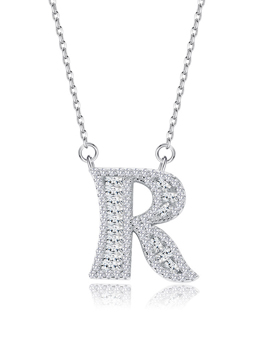 Chic Letter R Silver Chain Necklace