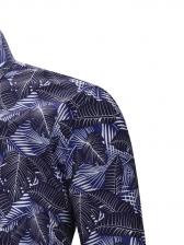 Creative Leaves Printed Long Sleeve Shirts