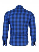 Fashion Long Sleeve Irregular Hem Plaid Shirt