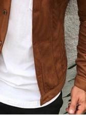 Slim Fit Pockets Button Down Winter Jacket