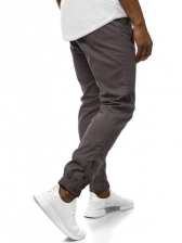Casual Ruched Button Decor Jogger Pants