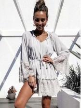 Lace Patchwork StringySelvedge Ladies Dress