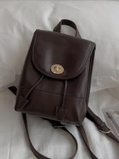 Twist Lock Solid Color Adjustable Belt Backpack