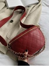Minimalist Rhombus Pattern Crossbody Shoulder Bag
