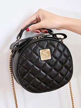Fashion Rhombus Round Chain Shoulder Bag