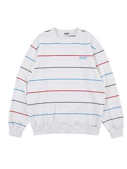 Chic Striped Long Sleeve Crewneck Sweatshirt