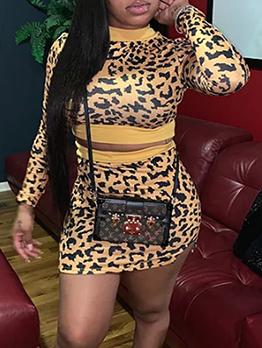 Stylissh Long Sleeve Leopard Print Co Ord