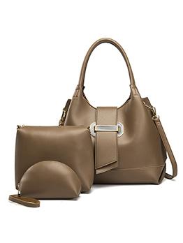 Large Capacity Pu Material 3 Piece Handbag Set