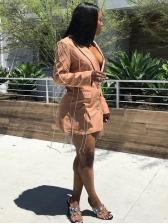 Chic Rhinestone Tassel Single Breasted Ladies Blazer