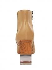 Square Transparent Perspex Heel Womens Boots