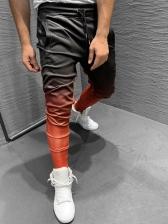 Winter Gradient Color Slim Fit Mens Pants