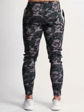 CamouflageLeisure Drawstring Pencil Pants