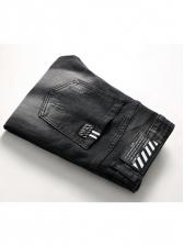 Elastic Solid Pencil Denim Jeans