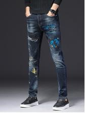 Winter Printed Mens Skinny Jeans