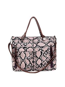 Large Capacity Snake Printed Ladies Tote Handbags