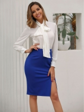 OL Style Solid Split Skirts For Women