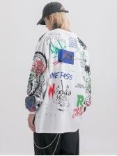 Vintage Raffiti Writing Printed Mens Sweatshirts
